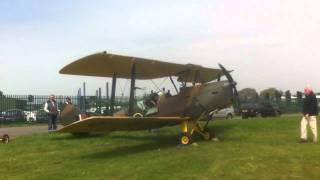 ww2 tiger moth ex raf d h 82 engine start up henstridge april 27 2011 video 1 of 2