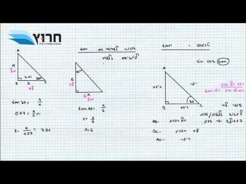 טריגונומטריה- מאגר 3 יחידות תרגילים 1-20