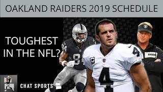 Oakland Raiders 2019 Schedule: NFL's Toughest Schedule Belongs To Jon Gruden, Derek Carr & Co.