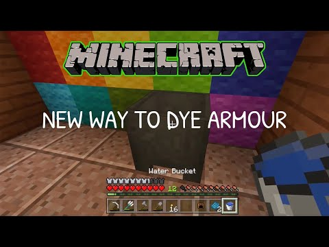 How to Dye Leather Armor in Minecraft 2018 (XBox One) - Game Tutorial thumbnail