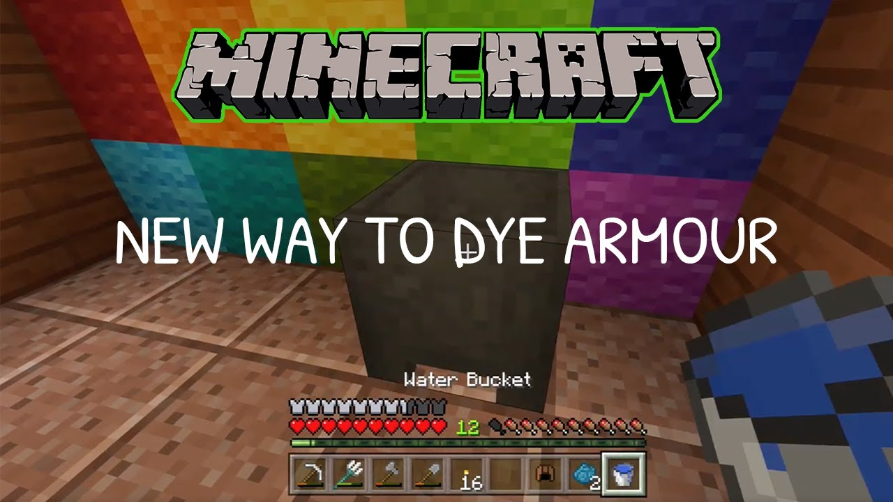 how to dye leather armor in minecraft xbox one 2018