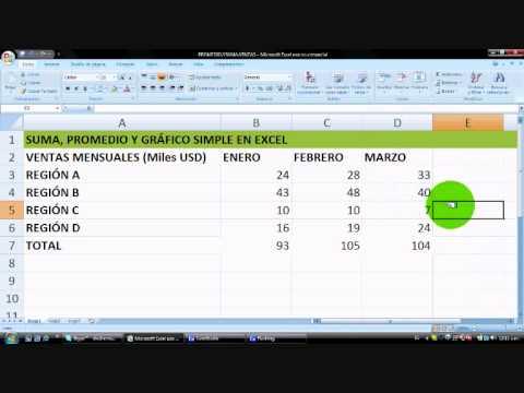Cálculo de Suma Total, Promedio y Gráfico en Excel - ¡en 5 minutos!