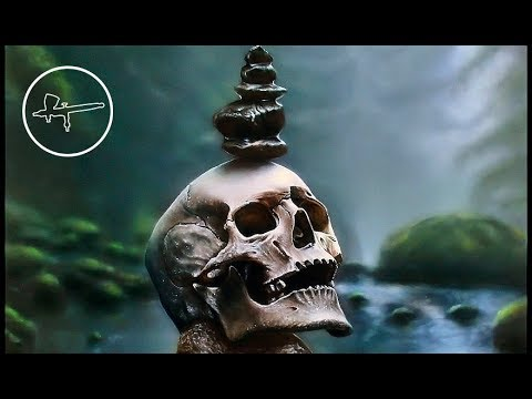 Airbrush Painting Skull on the River | Panel | Original painting by Igor Amidzic