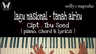 Lagu Wajib Nasional - Tanah airku Cipt. Ibu Soed ( Piano, Chord & Lyrics ) Cover by Willy