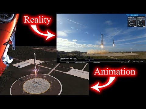 What Happened To The Center Core? SpaceX Animation VS Reality Breakdown!