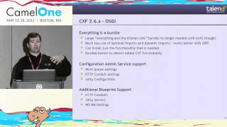 Apache CXF - New Features - CamelOne