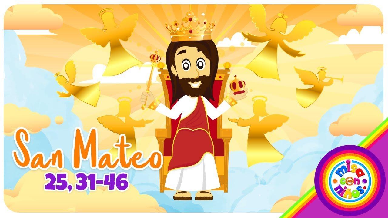 Cómic Evangelio Animado Domingo Cristo Rey San Mateo 25