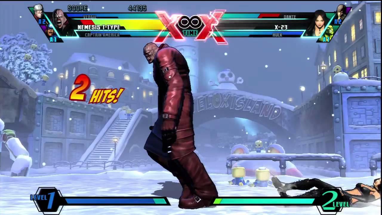 Ultimate Marvel Vs Capcom 3 HD PS3 Dante Vs Vergil - YouTube