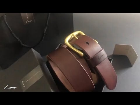 Personalised Leather Belt by L.ong