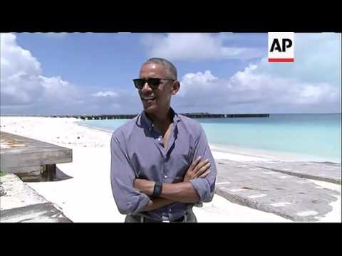 Obama Visits Midway Atoll in Pacific