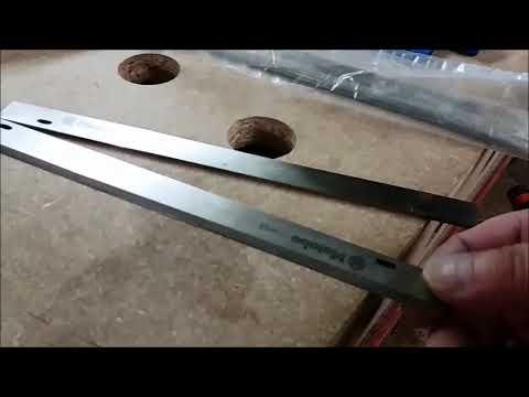 Metabo Magnum ADH 1626 D //2 Stück 263 x 20 x 3 Hobelmesser mit Nut HSS 18 /%