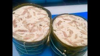 Làm giò bì tại nhà vừa ngon lại đảm bảo vệ sinh (Steamed pork paste with skin) - - Bếp Nhà Nội