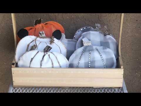 DollarTree DIY l Fall l Large Wooden crate  Caddy  rustic l bamboo l tools l toys l Crafts
