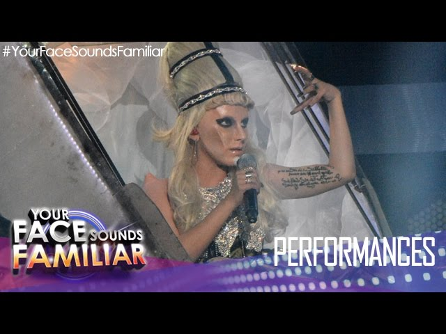 "Your Face Sounds Familiar: KZ Tandingan as Lady Gaga - ""Born This Way"""