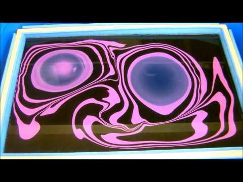 Swirling(Black & Purple Bicycle Frame Swirl)