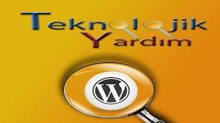 Wordpress menu ve bileşenlere resim ve video ekleme