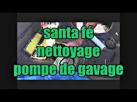 Hyundai santa fé I: nettoyage de la pompe de gavage.