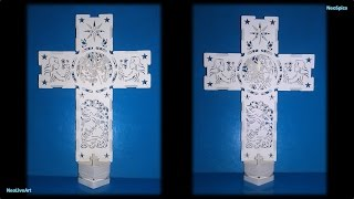 Decorative Cross Variation. Paper Cut / Kirigami