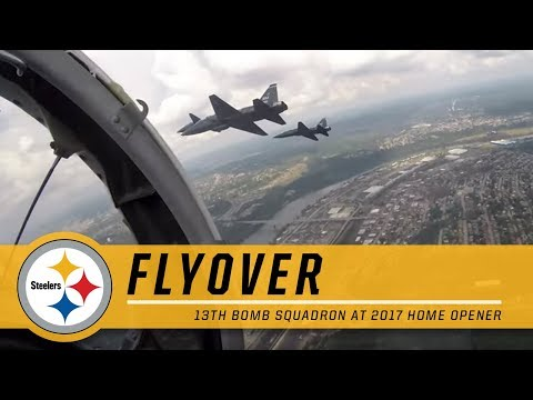 13th Bomb Squadron Flyover at Steelers Home Opener