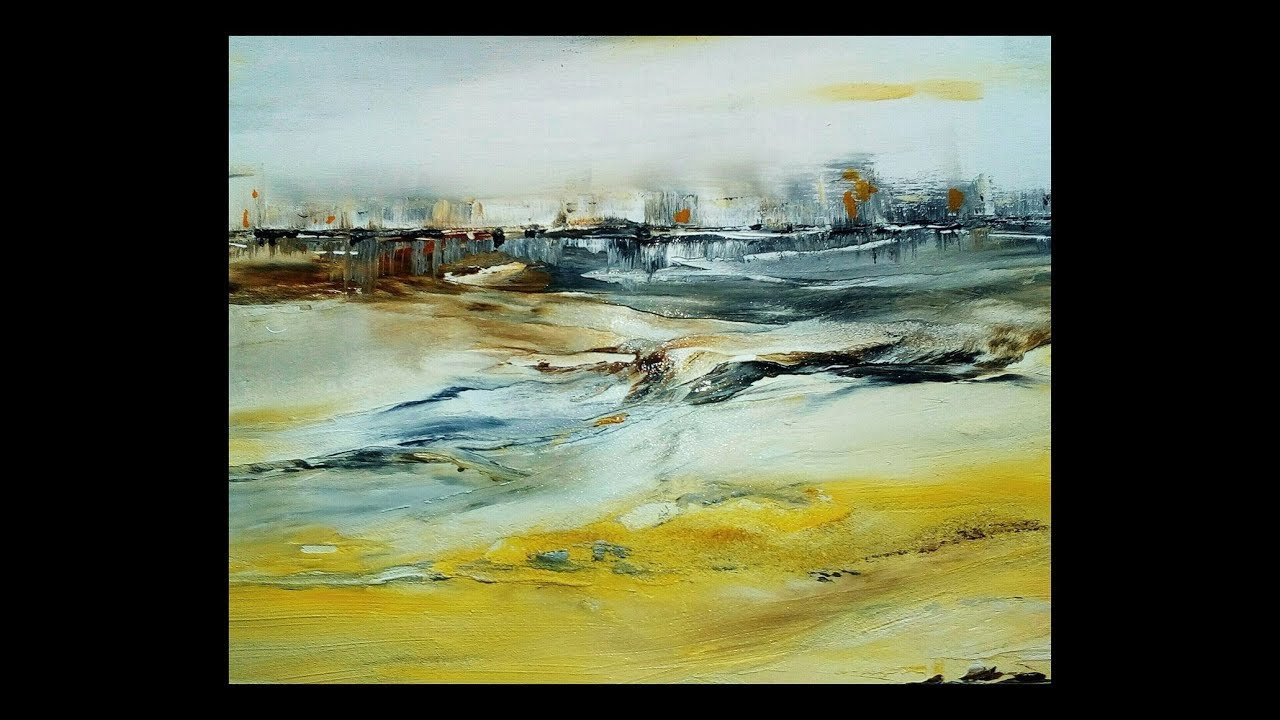 Abstract Watercolor Ii Speed Painting Youtube Toile Aquarelle
