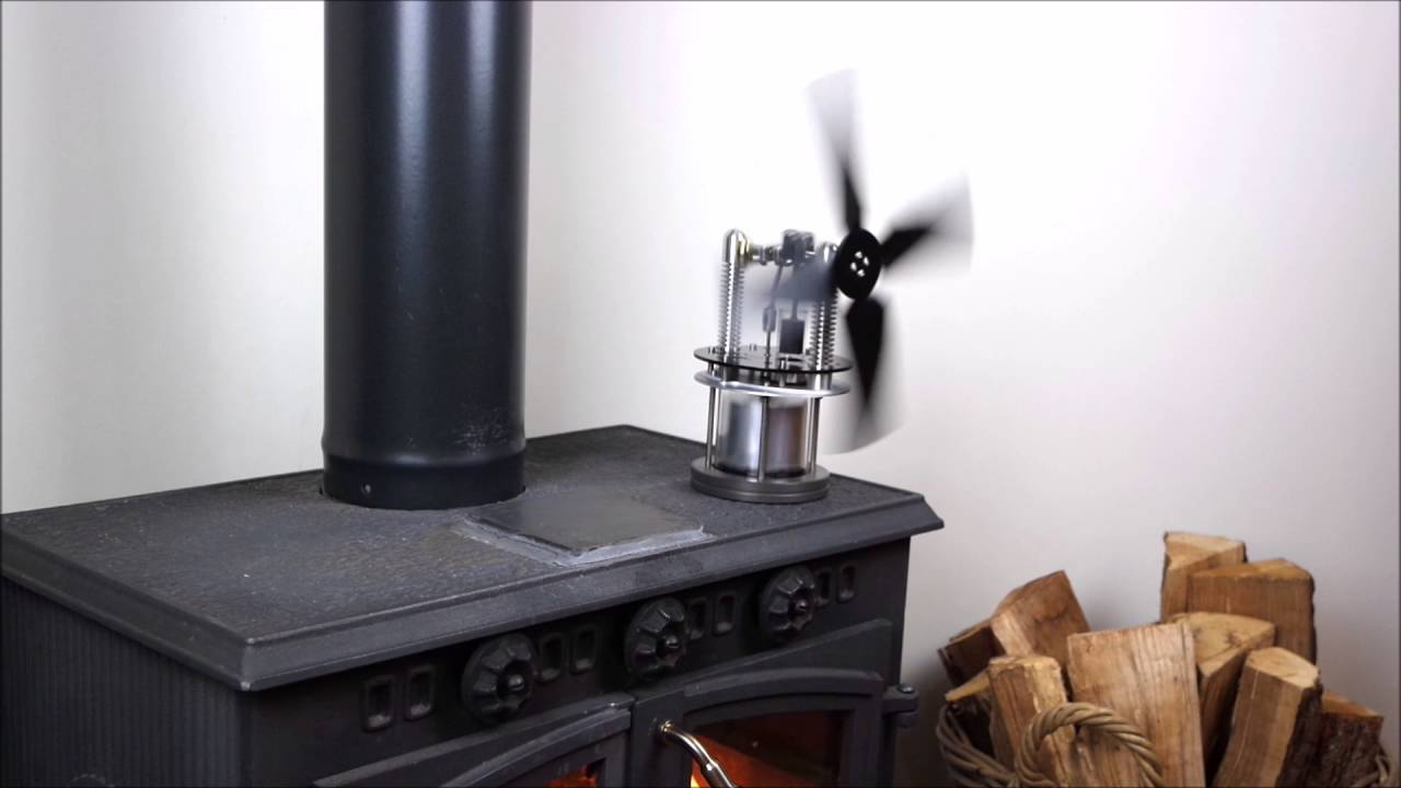 warpfive glasshopper stove fan ultra  start  stirling engine youtube