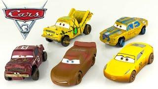 Disney Cars 3 Coffret Deluxe 5 Voitures Jimbo McQueen T-Bone Taco Disney Store Jouet Toy Review