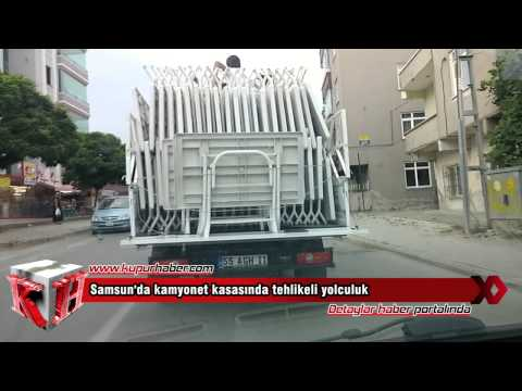Samsun'da tehlikeli yolculuk