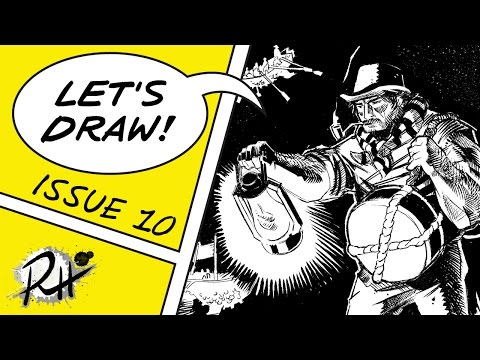 Comic Book Inking Demo Of Smugglers Unloading A Flying Ship • Lets Draw #10
