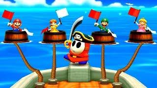 Mario Party The Top 100 Minigames - Mario vs Daisy vs Peach vs Luigi