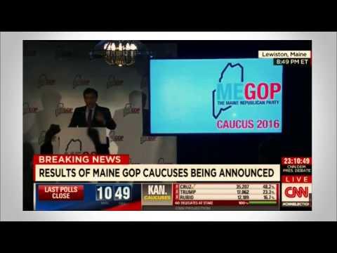 2016 Maine GOP Caucus Winner Announcement