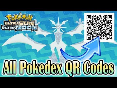Pokemon Ultra Sun & Ultra Moon - Complete Pokedex w/ All QR Codes