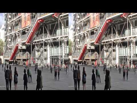 Paris, Centre Georges Pompidou 2013 3D