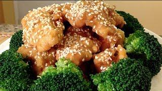Honey Sesame Chicken-asian Food Recipes
