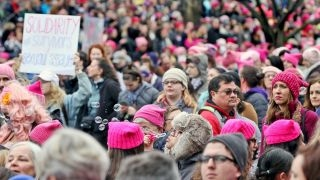 Do women's marches resonate outside liberal cities?