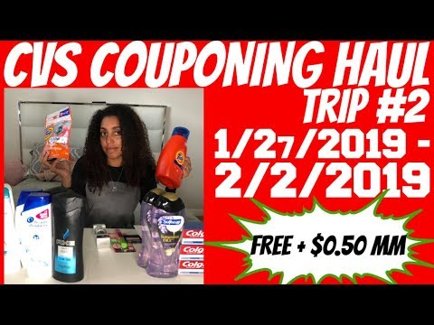 CVS COUPONING HAUL 1/27/2019 - 2/2/2019 | TRIP #2