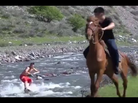 """Horseboarding"" is a new extreme sport from Kyrgyzstan"