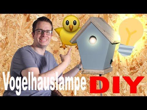 Anleitung Vogelhauslampe Vogelhaus selber machen Kinderzimmer Dekoration selber bauen Leuchte Lampe