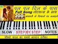 Pal Pal Dil Ke  Paas Piano Tutorial With Notes, Arijit Singh, पल पल दिल के पास नोटशन्स के साथ