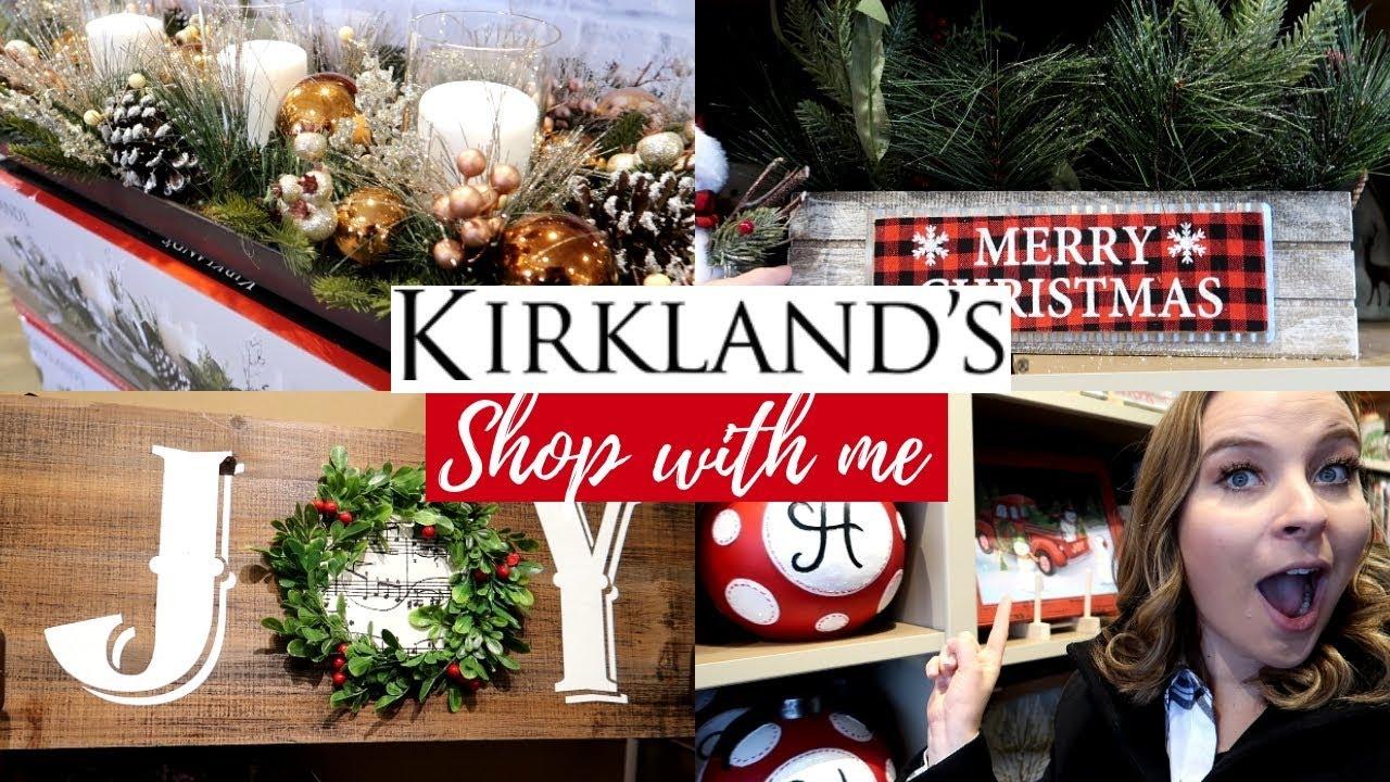 KIRKLANDS SHOP WITH ME || Christmas Decor 2018 - YouTube