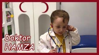 HAMZA DOKTOR OLDU DOKTORCULUK OYUNU OYNUYORUZ   Çocuk Videoları