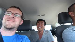 "Korean guy sings ""Ne tren Per Prizren"" while hitchhiking in Korce"