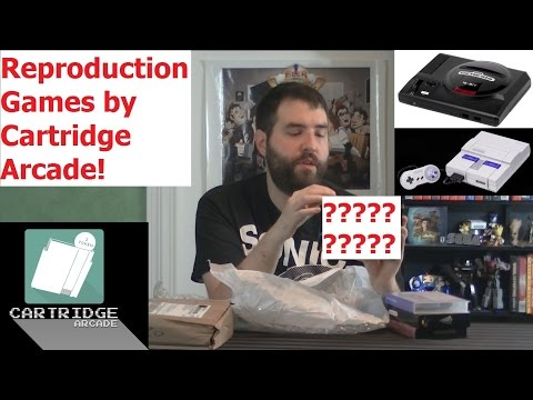 Unboxing - Reproduction SNES Game From Cartridge Arcade! - Adam Koralik