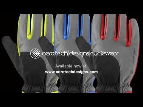 Reflective Waterproof Winter Cycling Gloves By Aero Tech Designs