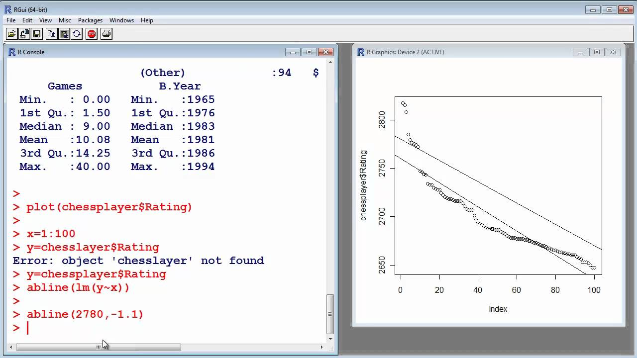R Tutorial #10  Linear Regression