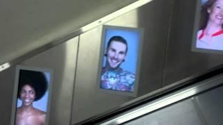 Escalator Ad at Oxford Circus Station