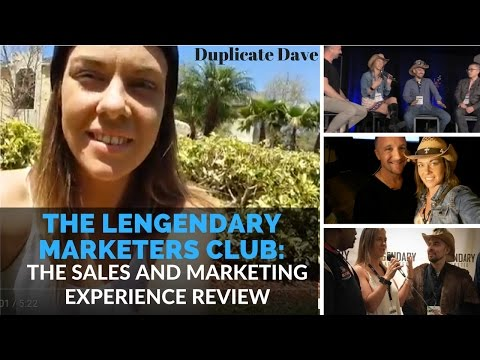 Duplicate Dave and the Legendary Marketers Club's Sales and Marketing Experience Review