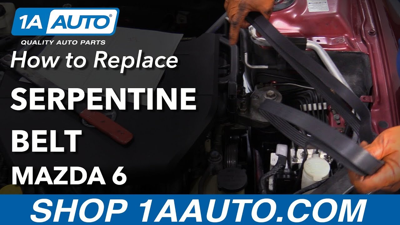 hight resolution of how to replace serpentine belt 03 08 mazda 6