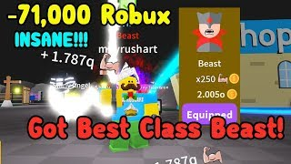 I Spent Over 70,000 Robux To Get Best Class Beast! - Saber Simulator