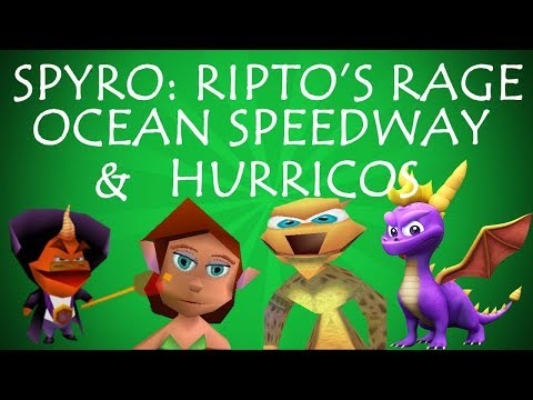LET'S PLAY!!! Spyro Ripto's Rage part 5: Ocean Speedway and Hurricos