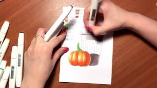 Видеоурок спиртовыми маркерами TOUCH (аналог Copic) для новичков (marker painting tutorial)